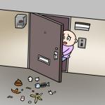 家の敷地にゴミが捨てられたり、玄関前に犬のフンが・・・